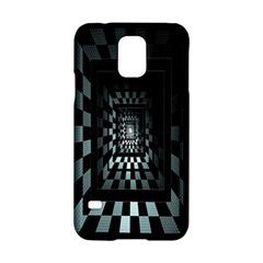 Optical Illusion Square Abstract Geometry Samsung Galaxy S5 Hardshell Case