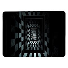 Optical Illusion Square Abstract Geometry Samsung Galaxy Tab Pro 12.2  Flip Case