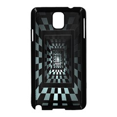 Optical Illusion Square Abstract Geometry Samsung Galaxy Note 3 Neo Hardshell Case (Black)