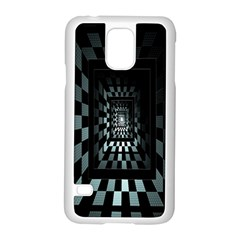 Optical Illusion Square Abstract Geometry Samsung Galaxy S5 Case (white)