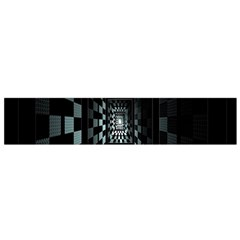 Optical Illusion Square Abstract Geometry Flano Scarf (small)