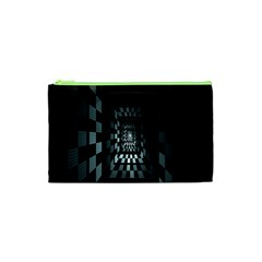 Optical Illusion Square Abstract Geometry Cosmetic Bag (xs)