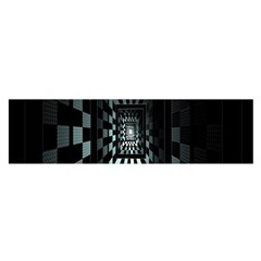 Optical Illusion Square Abstract Geometry Satin Scarf (oblong)