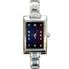 Hexagon Colorful Pattern Gradient Honeycombs Rectangle Italian Charm Watch