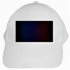 Hexagon Colorful Pattern Gradient Honeycombs White Cap