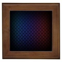 Hexagon Colorful Pattern Gradient Honeycombs Framed Tiles