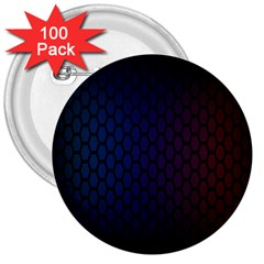 Hexagon Colorful Pattern Gradient Honeycombs 3  Buttons (100 Pack)
