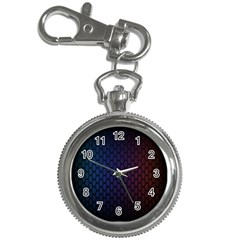 Hexagon Colorful Pattern Gradient Honeycombs Key Chain Watches