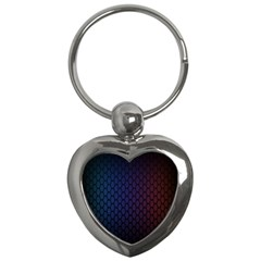 Hexagon Colorful Pattern Gradient Honeycombs Key Chains (heart)