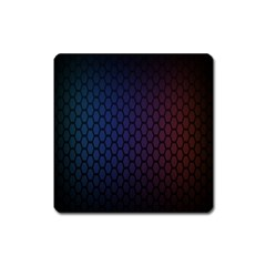 Hexagon Colorful Pattern Gradient Honeycombs Square Magnet