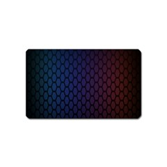 Hexagon Colorful Pattern Gradient Honeycombs Magnet (Name Card)