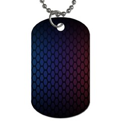 Hexagon Colorful Pattern Gradient Honeycombs Dog Tag (one Side)