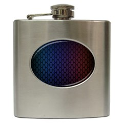 Hexagon Colorful Pattern Gradient Honeycombs Hip Flask (6 oz)