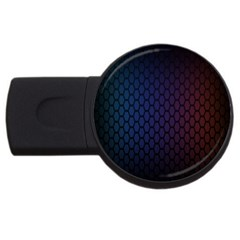 Hexagon Colorful Pattern Gradient Honeycombs USB Flash Drive Round (1 GB)