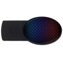 Hexagon Colorful Pattern Gradient Honeycombs USB Flash Drive Oval (2 GB)