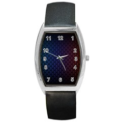 Hexagon Colorful Pattern Gradient Honeycombs Barrel Style Metal Watch