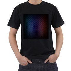 Hexagon Colorful Pattern Gradient Honeycombs Men s T-Shirt (Black) (Two Sided)