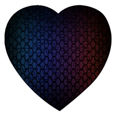 Hexagon Colorful Pattern Gradient Honeycombs Jigsaw Puzzle (Heart)