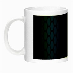Hexagon Colorful Pattern Gradient Honeycombs Night Luminous Mugs