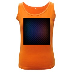 Hexagon Colorful Pattern Gradient Honeycombs Women s Dark Tank Top