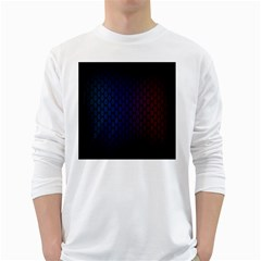 Hexagon Colorful Pattern Gradient Honeycombs White Long Sleeve T-Shirts