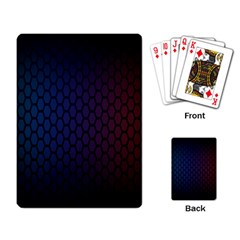 Hexagon Colorful Pattern Gradient Honeycombs Playing Card