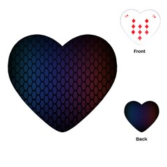 Hexagon Colorful Pattern Gradient Honeycombs Playing Cards (Heart)