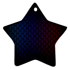 Hexagon Colorful Pattern Gradient Honeycombs Star Ornament (two Sides)
