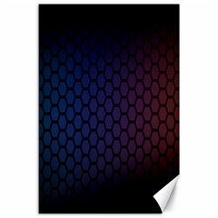 Hexagon Colorful Pattern Gradient Honeycombs Canvas 24  X 36