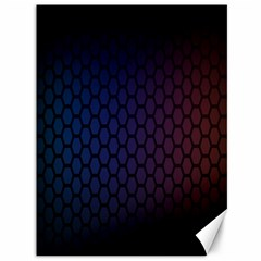 Hexagon Colorful Pattern Gradient Honeycombs Canvas 36  x 48