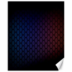 Hexagon Colorful Pattern Gradient Honeycombs Canvas 11  X 14