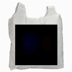 Hexagon Colorful Pattern Gradient Honeycombs Recycle Bag (two Side)