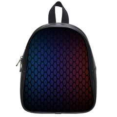 Hexagon Colorful Pattern Gradient Honeycombs School Bags (small)