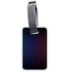 Hexagon Colorful Pattern Gradient Honeycombs Luggage Tags (two Sides)