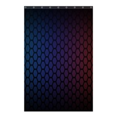 Hexagon Colorful Pattern Gradient Honeycombs Shower Curtain 48  X 72  (small)