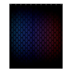 Hexagon Colorful Pattern Gradient Honeycombs Shower Curtain 60  X 72  (medium)