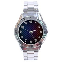 Hexagon Colorful Pattern Gradient Honeycombs Stainless Steel Analogue Watch