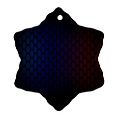 Hexagon Colorful Pattern Gradient Honeycombs Snowflake Ornament (two Sides)