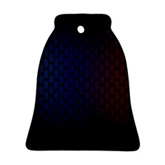 Hexagon Colorful Pattern Gradient Honeycombs Bell Ornament (two Sides)