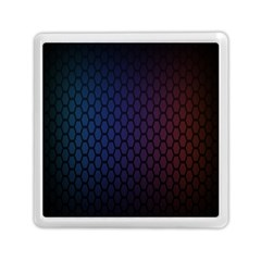 Hexagon Colorful Pattern Gradient Honeycombs Memory Card Reader (square)