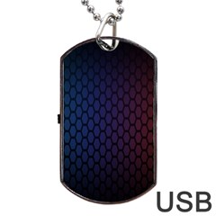 Hexagon Colorful Pattern Gradient Honeycombs Dog Tag Usb Flash (one Side)