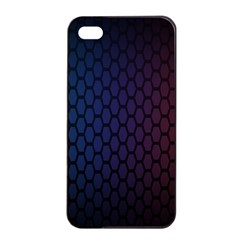 Hexagon Colorful Pattern Gradient Honeycombs Apple iPhone 4/4s Seamless Case (Black)
