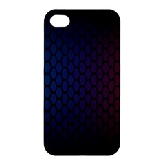 Hexagon Colorful Pattern Gradient Honeycombs Apple Iphone 4/4s Hardshell Case