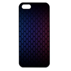 Hexagon Colorful Pattern Gradient Honeycombs Apple iPhone 5 Seamless Case (Black)