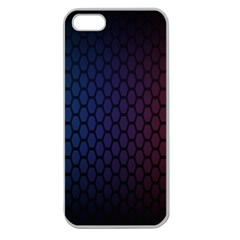 Hexagon Colorful Pattern Gradient Honeycombs Apple Seamless Iphone 5 Case (clear)