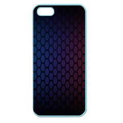 Hexagon Colorful Pattern Gradient Honeycombs Apple Seamless Iphone 5 Case (color)