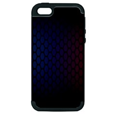 Hexagon Colorful Pattern Gradient Honeycombs Apple iPhone 5 Hardshell Case (PC+Silicone)