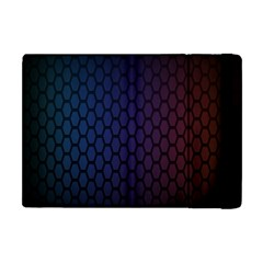 Hexagon Colorful Pattern Gradient Honeycombs Apple iPad Mini Flip Case