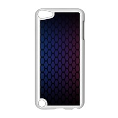 Hexagon Colorful Pattern Gradient Honeycombs Apple iPod Touch 5 Case (White)