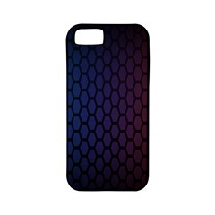Hexagon Colorful Pattern Gradient Honeycombs Apple Iphone 5 Classic Hardshell Case (pc+silicone)